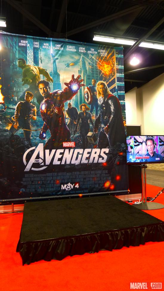 The Marvel booth at WonderCon 2012