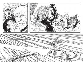 Defenders (2011) #8 inked preview art by Jamie McKelvie