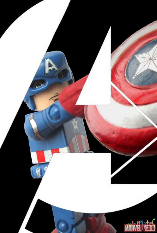Marvel's The Avengers Captain America Minimates poster