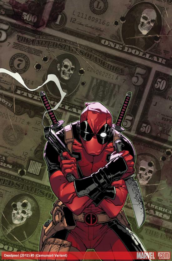 Deadpool (2012) #5 variant cover by Giuseppe Camuncoli