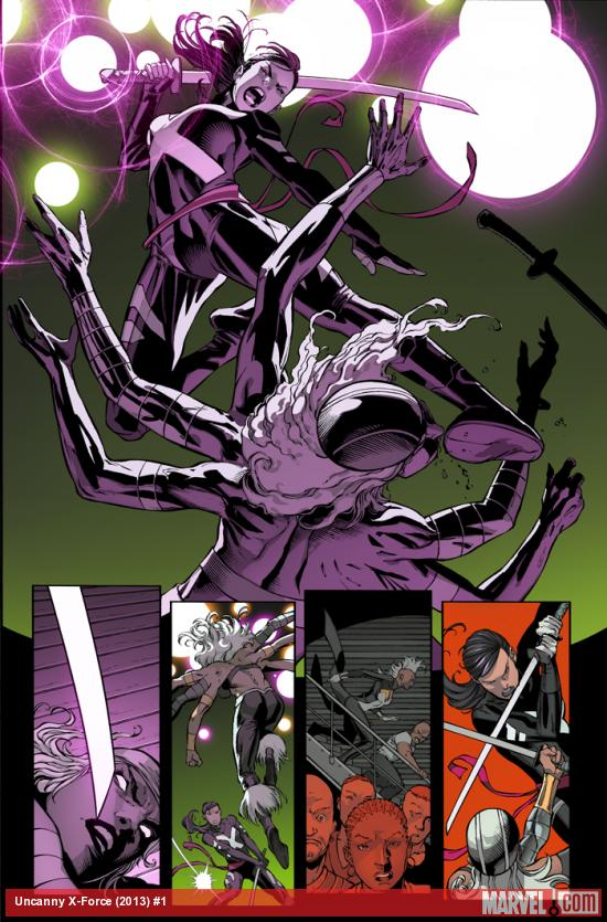 Uncanny X-Force (2013) #1 preview art by Ron Garney
