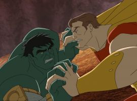 Hulk battles Hyperion in Marvel's Avengers Assemble - By the Numbers