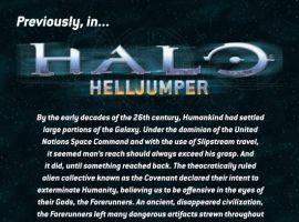 HALO: HELLJUMPER #2, intro page