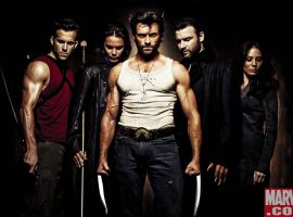 Left to right: Deadpool, Gambit, Wolverine, Sabretooth and Silver Fox