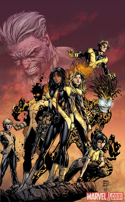 NEW MUTANTS #12 (2009) variant cover by David Finch