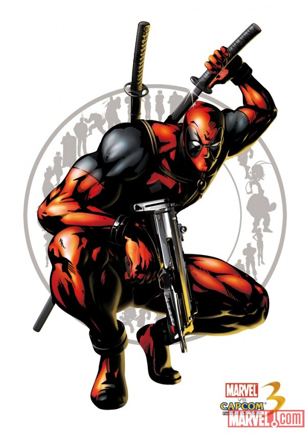 Deadpool character art from Marvel vs. Capcom 3