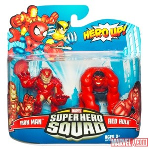 Super Hero Squad Iron Man and Red Hulk by Hasbro