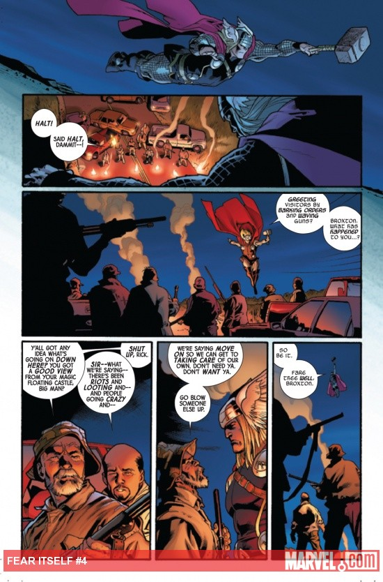Fear Itself #4 page by Stuart Immonen