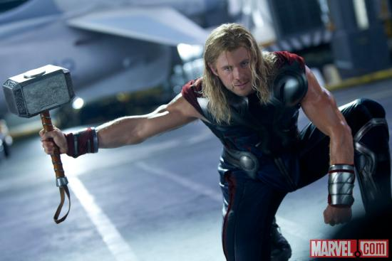Chris Hemsworth as Thor in 'Marvel's The Avengers'