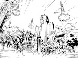 All-New X-Men #1 preview inks by Stuart Immonen