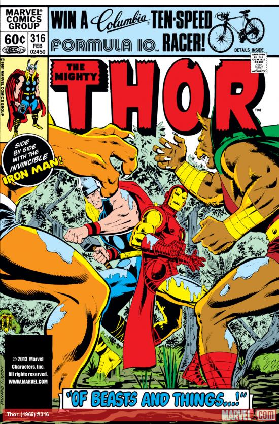 Thor (1966) #316 Cover