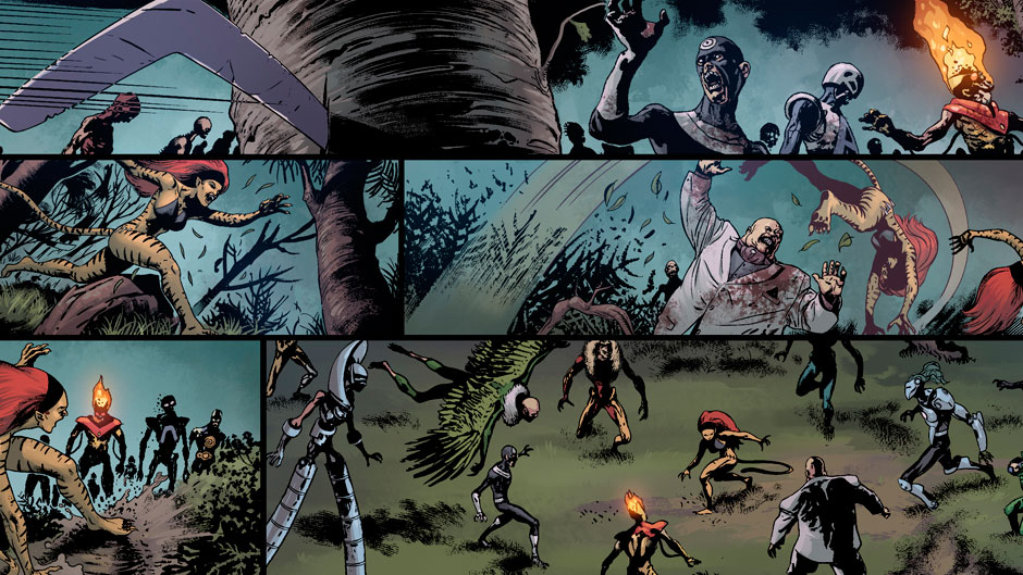 Age of Ultron Vs. Marvel Zombies #1 preview art by Steve Pugh
