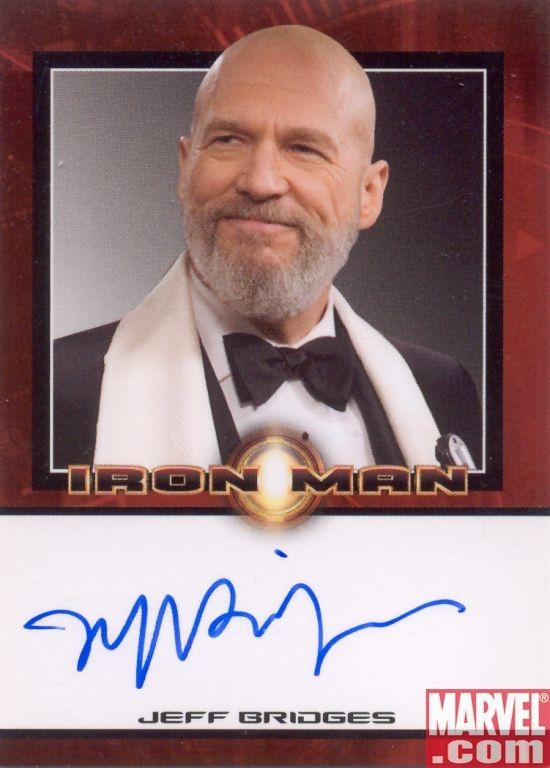 jeff bridges iron man 2. Jeff Bridges Autograph