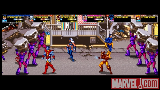 Screenshot from X-Men Arcade