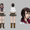 Final color art for Makoto from the Blade anime series