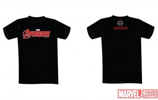 Black Widow NYCC 2011-exclusive Marvel's The Avengers tee-shirt