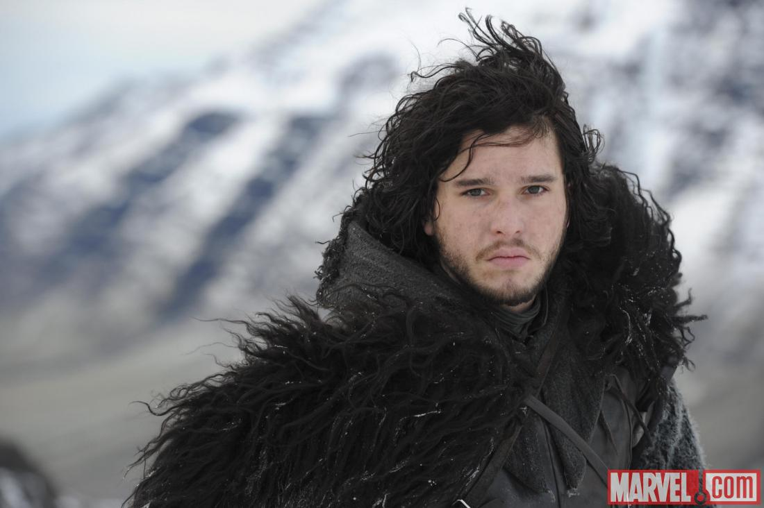 Jon Snow, played by Kit Harington, from Game of Thrones, season 2