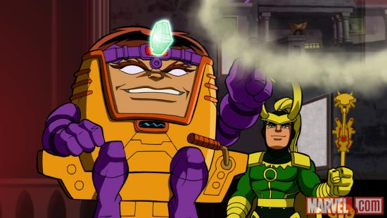 M.O.D.O.C. and Loki from The Super Hero Squad Show