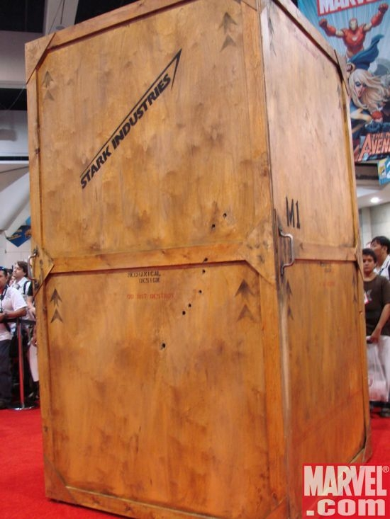 The mystery box that contained the Mark 1 armor