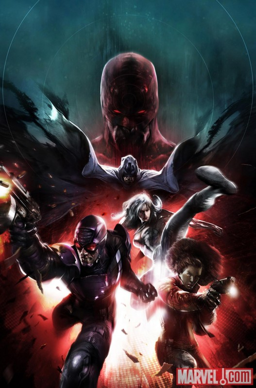 Image Featuring Daredevil, Silver Sable, Misty Knight