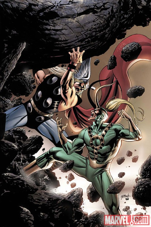 Thor vs Loki by Steve Epting