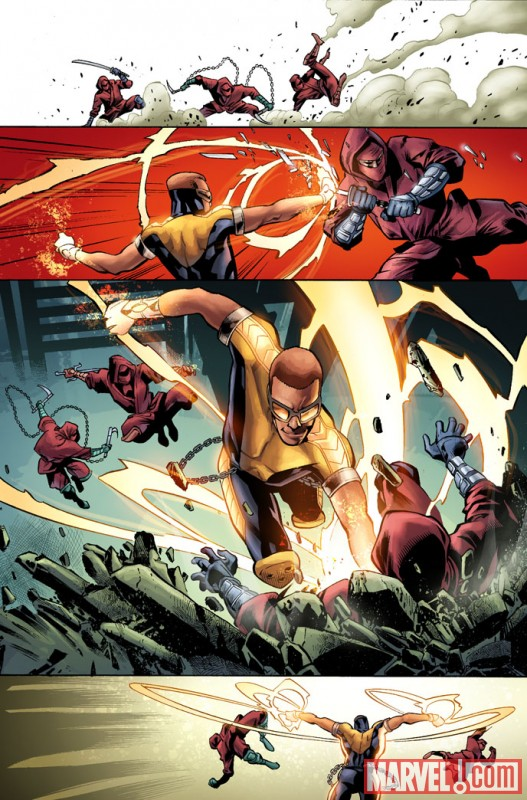 SHADOWLAND: POWER MAN #1 preview art by Mahmud Asrar 3