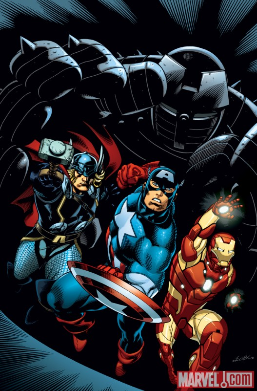 AVENGERS THREE promo art by Ed McGuinness