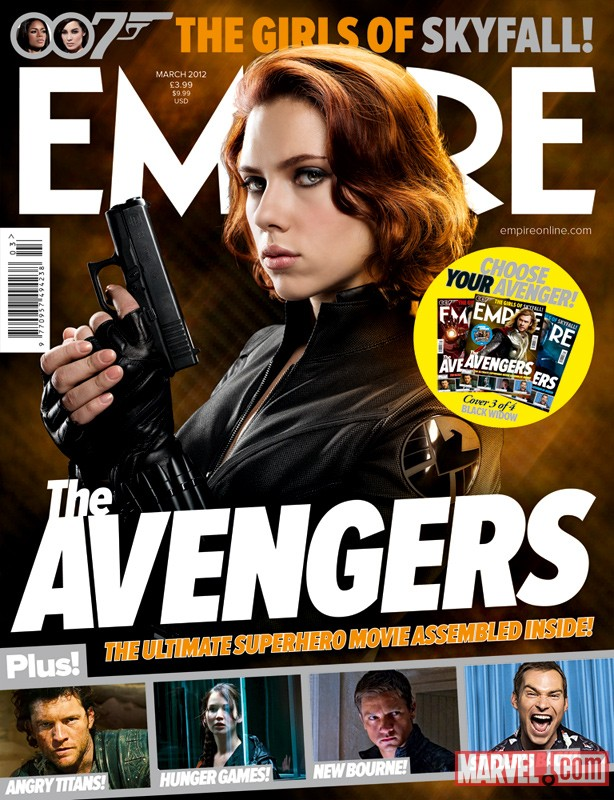 Empire Magazine March 2012 Avengers cover featuring Scarlett Johansson as Black Widow