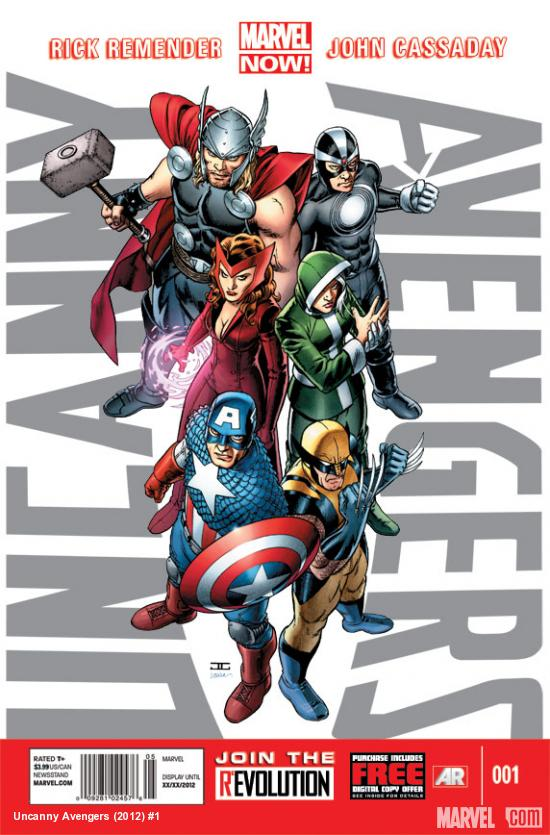 Uncanny Avengers #1 cover by John Cassaday
