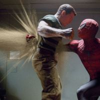 Spider-Man punching the Sandman