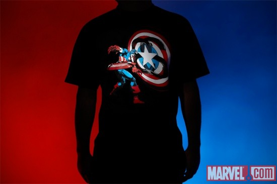 The Stussy x Marvel Project- Captain America Tee