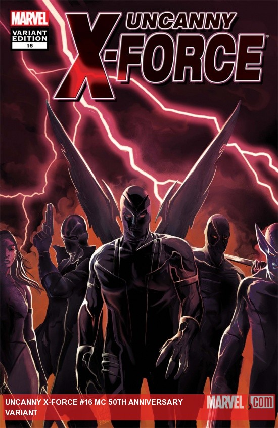 Uncanny X-Force (2010) #16, Mc 50th Anniversary Variant cover