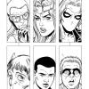Avengers Academy #26 black and white preview art by Tom Grummett