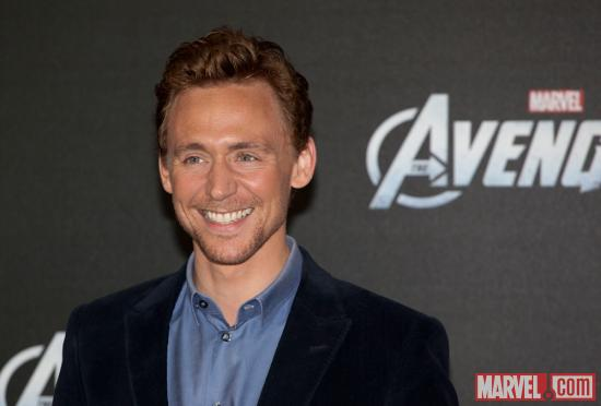 Tom Hiddleston (Loki) at the premiere of Marvel's The Avengers in Berlin