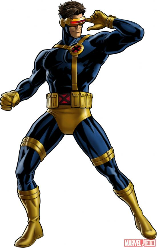 Cyclops (alternate costume) character model from Marvel: Avengers Alliance