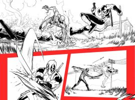 Deadpool Vs. Carnage #1 preview inks by Salva Espin