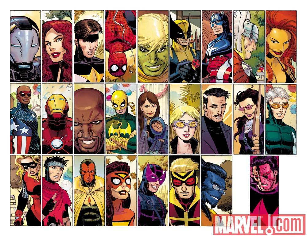 Image Featuring Iron Fist (Danny Rand), Wolverine, Iron Man, Wonder Man, Jessica Jones, The Winter Soldier, Patriot, Justice, Avengers, War Machine (James Rhodes), Hawkeye (Kate Bishop), Beast, Spider-Woman (Jessica Drew), Stature, Black Widow, Spider-Man, Speed, Luke Cage, Thor