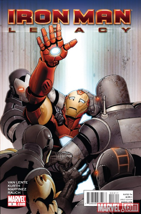 IRON MAN LEGACY #3 cover by Salvador Larroca