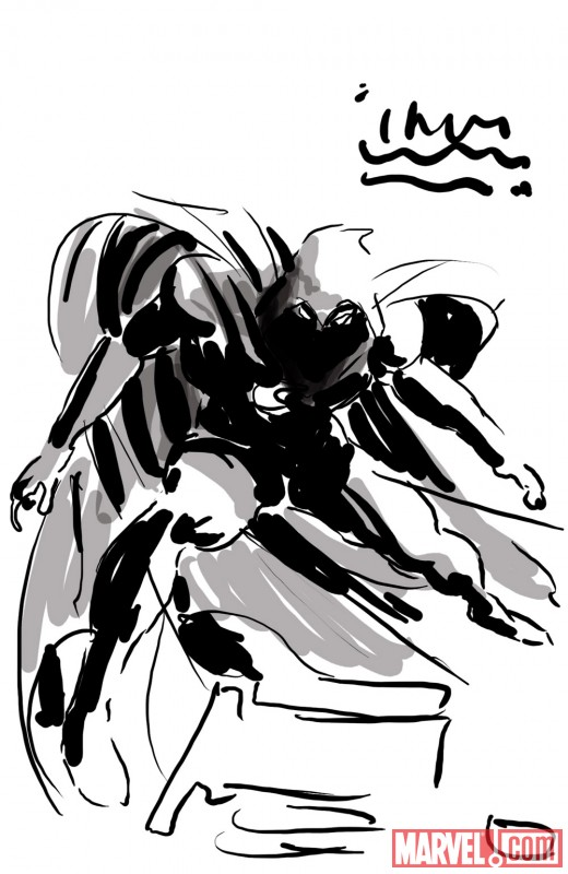 Moon Knight promo sketch by Mike Deodato