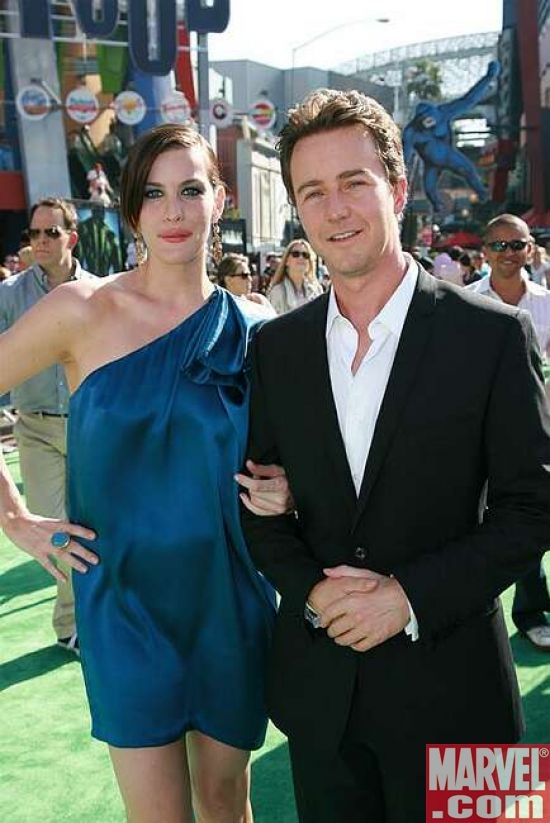 Liv Tyler and Edward Norton