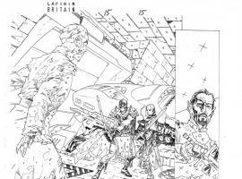CAPTAIN BRITAIN AND MI13 #15 pencil art by Leonard Kirk