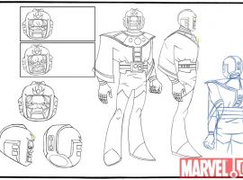 Lineart for Kang from 'The Avengers: Earth's Mightiest Heroes!'