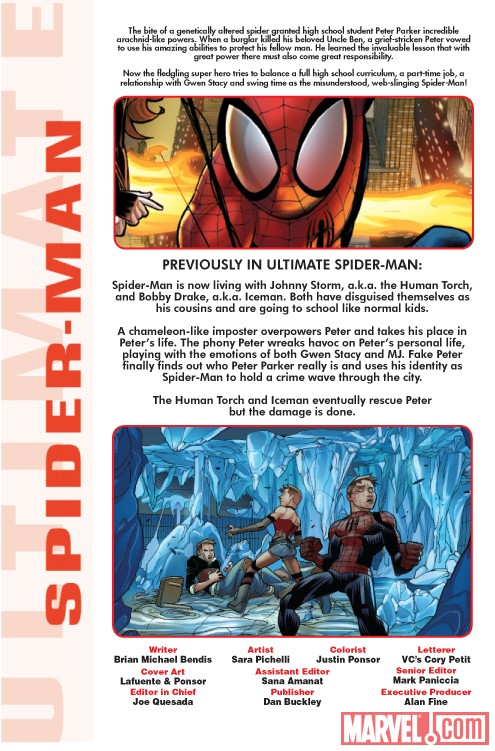 ULTIMATE COMICS SPIDER-MAN #15 recap page