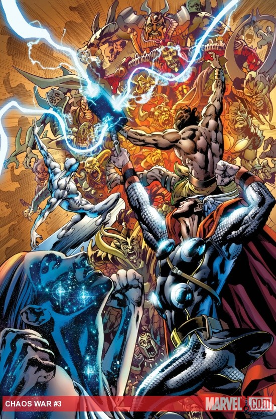 Chaos War #3 cover by Bryan Hitch
