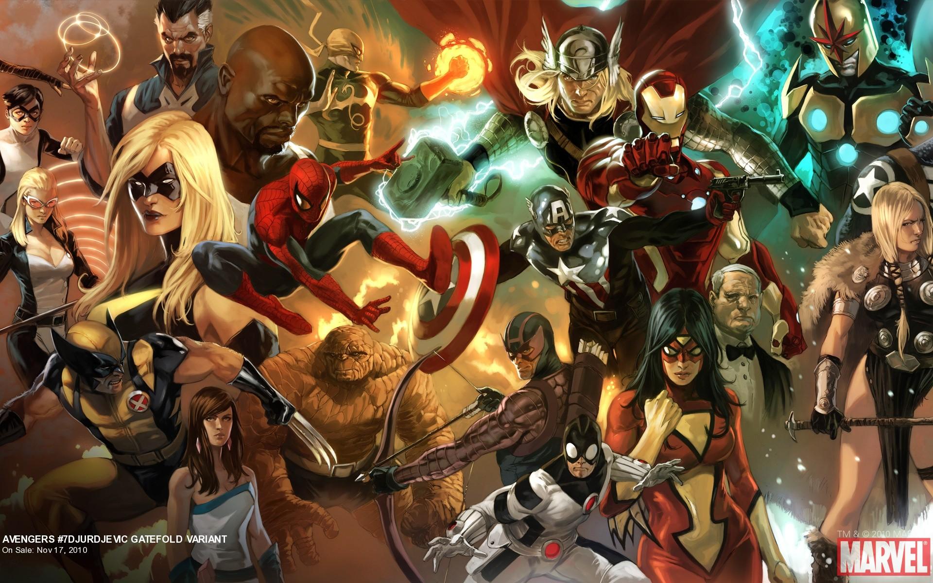 Avengers 7 Djurdjevic Gatefold Variant Part 2 Marvel Com