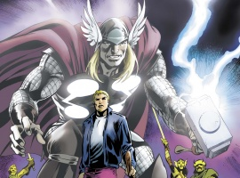 The Mighty Thor #7 variant cover by Alan Davis