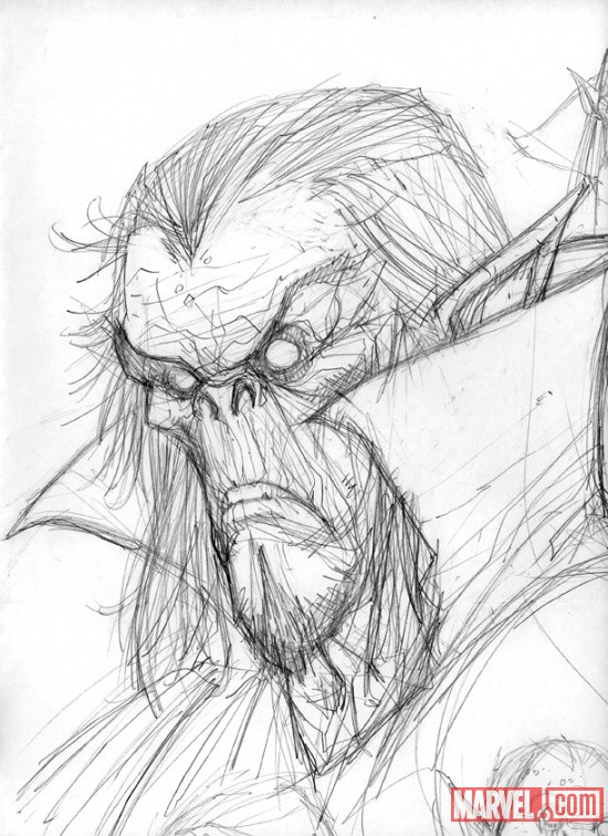 Morbius sketch by Juan Doe