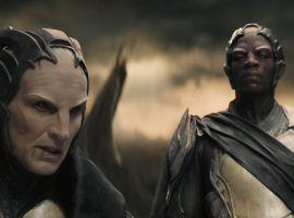 Christopher Eccleston & Adewale Akinnuoye-Agbaje star as Malekith & Algrim in Marvel's Thor: The Dark World