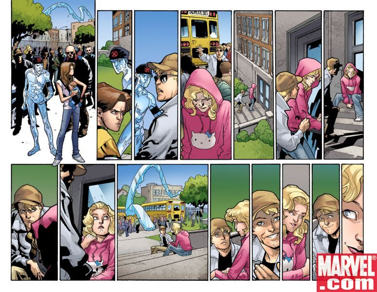 ULTIMATE SPIDER-MAN #118 interior art by Stuart Immonen