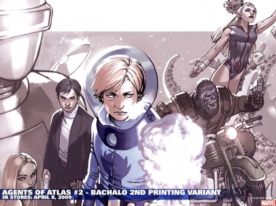 Agents of Atlas #2 Second Printing variant cover by Chris Bachalo